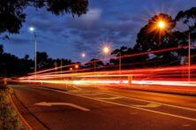 Blurred Lights On Road