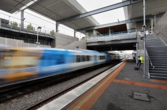 Mitcham train moving