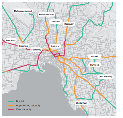 Figure 18 The rail network is projected to become crowded without change