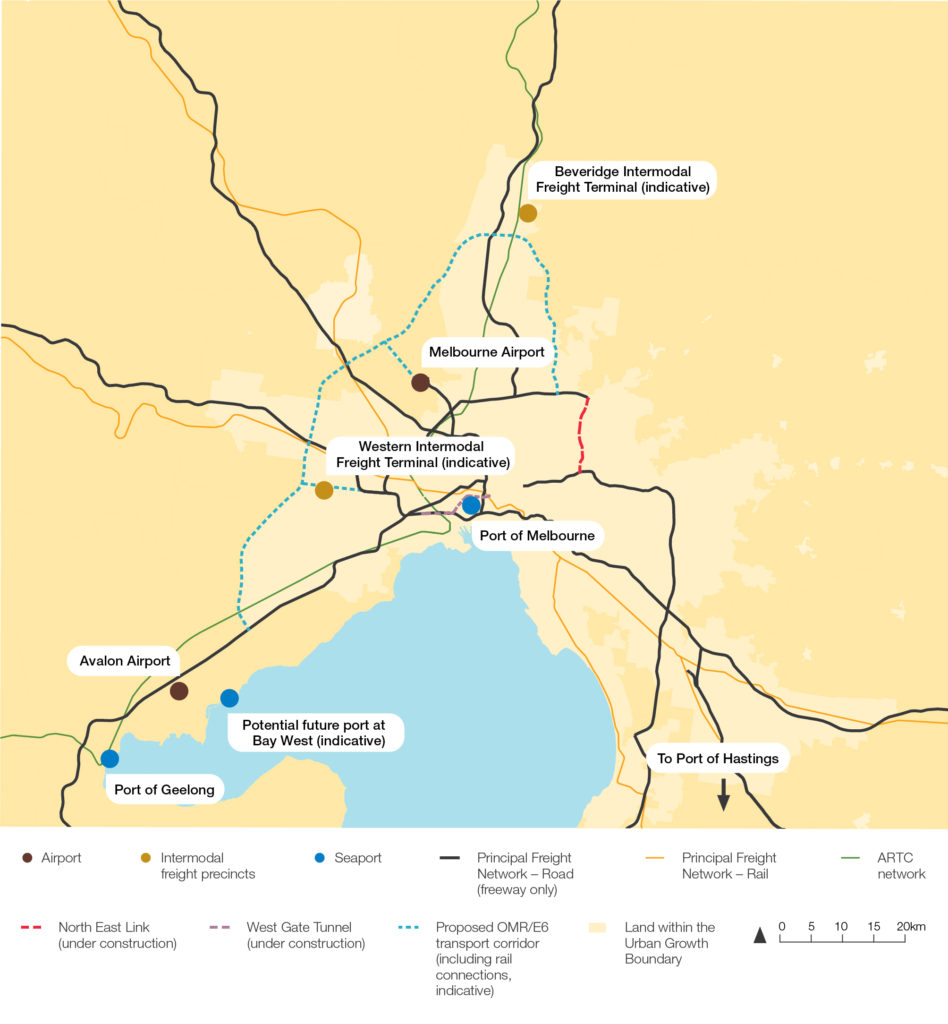 Figure 22 Proposed freight infrastructure connects freight terminals and ports 300dpi 1
