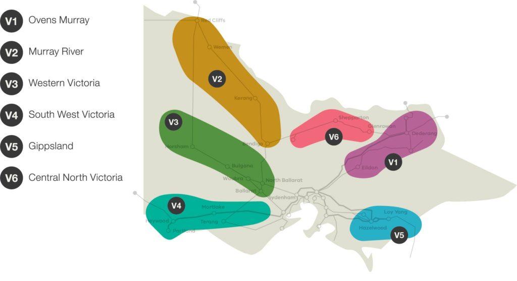 Figure 3 Potential renewable energy zones in Victoria 300dpi